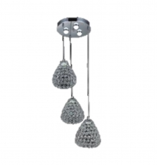 Lampara colgante Diamante 3 luces